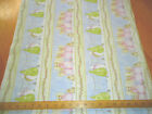 Fabric Always Believe Winter Snowman Angels Pink Blue Cotton Stripe Quilts Pillo