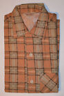 VINTAGE 1950s NEW LOOP COLLAR ROCKABILLY PLAID FLANNEL SHIRT! SANFORIZED! NOS! S