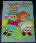 WHITMAN  RAGGEDY ANN AND ANDY  COLORING BOOK  1065  1978  UNUSED