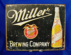 MILLER BEER BREWING COMPANY HIGH LIFE Metal Tin Sign Bar Man Cave Wall Decor Bar