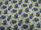 3 Yards Quilt Cotton Fabric - RJR Debbie Beaves Lovely Purple Pansy Buds Cream