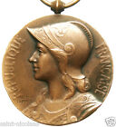 FRENCH MARIANNE LADY  ANTIQUE ART MEDAL signed GEORGES LEMAIRE dated 1871