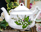 ARTHUR WOODS & SONS TEAPOT LILY OF THE VALLEY PATTERN TEA POT