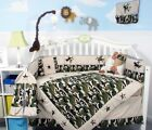 Baby Boy Camouflage Army Baby Crib Bedding 13 pcs Set included Diaper Bag