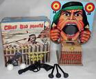 Vintage Marx Chief Big Mouth Ball Blowing Target Game, OB, COMPLETE, WORKS!