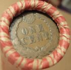 Old Estate Pennies Cent Roll with INDIAN HEADS on BOTH ends 50 Penny Coin Lot 7b