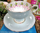 PARAGON TEA CUP AND SAUCER PASTEL BLUE  MARGOT DAISY TEACUP & SAUCER