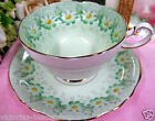 PARAGON TEA CUP AND SAUCER PASTEL GREEN MARGOT DAISY TEACUP & SAUCER