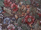 Country Florals by Joan Kessler for Concord BTY Rust Blue Green on Brown