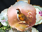 LIMOGES FRANCE BIRD PLATE CHARGER HANDPAINTED QUAIL BIRD DESIGN
