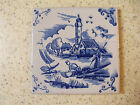 VINTAGE BLUE AND WHITE CERAMIC CLAY TILES-ITALY
