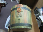 Weller Large Planter  Bucket/Barrel Style Woodgrain  Green & Brown  Great Piece