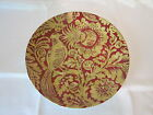 222 FIFTH BELORADO RED GOLD TOILE BIRD FLORAL HOLIDAY DINNER PLATES SET OF 4