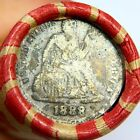 1888 Silver Seated Dime On The End of a Mixed Wheat Cent Roll 5019