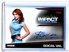 TNA SoCal Val 2011 Signature Impact RED Autograph Card SN 5 of 5