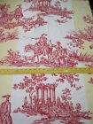 Brunschwig & Fils Red Yellow & White Music Toile French Country Pastoral Fabric