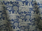 Gorgeous Pierre Deux Blue La Declaration French Country Toile Fabric