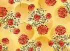 FABRIC 1YD REFLECTIONS 22667-gold DANDELION PUFFS LARGE Gudrun Erla Red Rooster