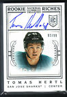 2013 14 NATIONAL TREASURES TOMAS HERTL ROOKIE RICHES AUTO AUTOGRAPH 99