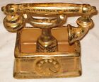 LG VINTAGE STANGL ART POTTERY TELEPHONE PLANTER GRANADA GOLD FRENCH PHONE MINT