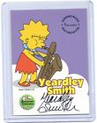 The Simpsons 10th Anniversary Yeardley Smith Lisa Simpson autograph auto card A3