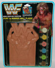 RARE WWF ULTIMATE WARRIOR Wall Plaque Paint by Number Wrestling Figure MIP