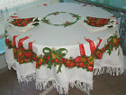 3810235490624040 1 Vintage Christmas Tablecloth