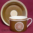 FITZ & FLOYD china MEDALLION D'OR COGNAC pattern Cup & Saucer