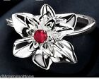 AVON CHRISTMAS POINSETTIA Ring Sterling Silver SIZE 6 FREE SHIPPING NEW