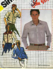 Men's Size 42 Weatern Style Shirt Vintage Sewing Pattern Simplicity 5439