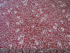 3  Yards Quilt Cotton Fabric - Kona Bay Gentle Breeze Red Natural Anemone Floral