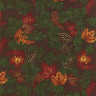 Moda Holly Taylor Turning Leaves Pine Cones Quilt Fabric 1/2 Yard Free Shipping