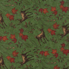 Moda Holly Taylor Turning Leaves Green Deer Quilt Fabric 1/2 Yard Free Shipping