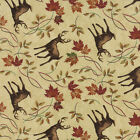Moda Holly Taylor Turning Leaves Beige Deer Quilt Fabric 1/2 Yard Free Shipping