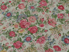 1 1/8 yd Floral Calico Print by Sharon Kessler for Concord Flowers on Off-White