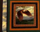 Wings of Glory Bald Eagle Soaring Wings Down Cotton Fabric Pillow Panel