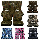 Designcovers Seat Covers Front  Rear Fit 87 02 JP Camouflage Print W Design