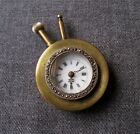 1920'S ART DECO FLAPPER MARCASITES BRASS WATCH TO ATTACH TO A PURSE BAG WORKING
