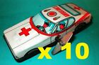 10 x  EMERGENCY RED CROSS TIN WIND UP U TURN UNBOXED AMBULANCES