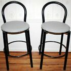 Pair Vintage Modern All WeatherCounter Bar Stools Black Style of Paperclip Stool