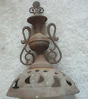 ANTIQUE CAST IRON WOOD BURNING STOVE SWING TOP  & TROPHY - GLOBE REX - 10.5