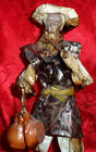 Collectible VTG Paper Mache Mexican Man Clay Pots Hand Painted Figurine Handmade