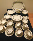Black Knight China-Arcady Pattern-Service for 8-68 Pieces-Vintage-Bavaria-Superb