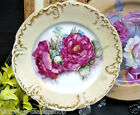 FRANCE PLATE PAINTED ARTIST SIGNED LUSH ROSES