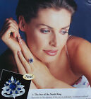 NEW FRANKLIN MINT 1996 STERLING SILVER RING  STAR OF THE NORTH  SZ 9 1/2