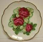 1900-1920 Moschendorf Bavaria Rose Pattern Serving Platter Signed C. Dubois