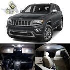 17 x Xenon White LED Interior Lights Package For Jeep Grand Cherokee 2011 2017