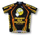 Cranky Old Bastard Bicycle Club Cycling Jersey Mens black orange with Socks