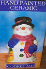Snowman Ceramic Cookie Jar in Box - Hand Painted