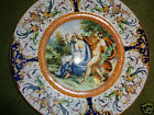 ANTIQUE ITALIAN MYTHOLOGICAL HAND PAINTED MAJOLICA FAIENCE POTTERY PLATE CHARGER
